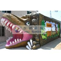 China Outdoor Thrilling 5D theater system dinosaur box for adults , Mobile Immersive 7D Cinema wholesale