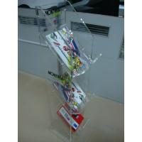 China 3 Mm Acrylic Pop Display ,3-Tier Clear Vacrylic Magazine Floor Stand wholesale