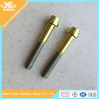 China Gold Anodized Gr5 Titanium Allen Head Screws wholesale
