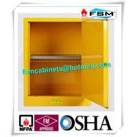 China Yellow Industrial Safety Cabinets , Flame Proof Storage Cabinets With Double Lock wholesale