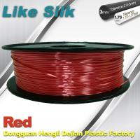 China Imitation Silk Filament Polymer Composites 3d Printer Abs Filament Red Color wholesale