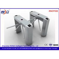 China Semi Automatic Access Control Tripod Turnstile Gate Stainless Steel For Public Areas wholesale