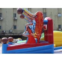 China Basketball Shooting Inflatable Sports Games With Hoop , Hand Printing wholesale