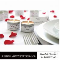 China Silver And Golden Color Beautiful Scented Candles , Soy Wax Small Tin Candles wholesale