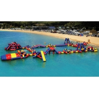 China CE ROHS Approved aqua adventure floating inflatable water park for team building wholesale