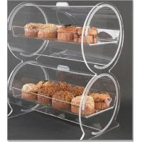 China 5 A Acrylic Bakery Display Case , Double Drum Display Container For Bread wholesale