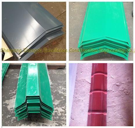 Color prepainted corrugated galvanized / galvalume steel sheet metal / alu - zinc GI GL roofing sheet price
