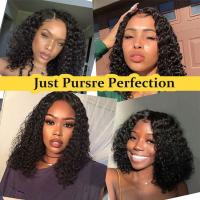 China Black Human Hair Lace Front Human Hair Wigs 13x6 Lace Area Water Wave wholesale