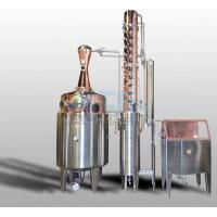 China 200L 500L 1000L Red Copper Alcohol Vodka Pot Still Distiller wholesale