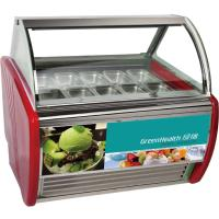 China Economical Ice Cream Scoop Display Freezer 12 Trays With Toughen Glass wholesale