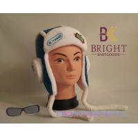 China Winter Warmly Cute Knit Hats With Carton Design For Girls / Boys wholesale
