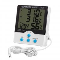 China Indoor and Outdoor Digital Hygro Thermometer with Clock and External Sensor wholesale