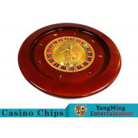 Quality Deluxe Solid Wooden Roulette Wheel Game Difficult To Deformation For Casino for sale