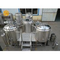 Quality 3 Vessels Micro Brewing Systems Abrasion Resistant 500L / 1000L Tanks for sale