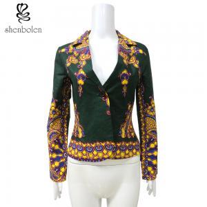 China Spring African Print Ladies Jackets , African Print Blazers For Ladies wholesale