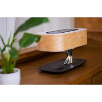 China Wood Veneer Skin Multi Function Fluorescent Desk Lamp With Wifi Bluetooth Speaker wholesale