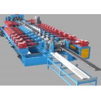 China Pallet Rack C Z Purlin Roll Forming Machine PlC Control Hydraulic Cutting wholesale