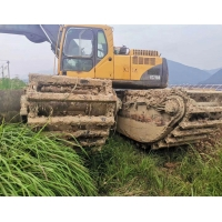 China Volve amphibious/folating Excavator EC210B 5.5km/H Used Crawler Excavator on sale