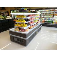 China Square Island Open Display Refrigerator With Streaming Design / Multideck Display Fridge wholesale