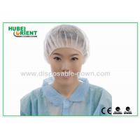 China Printed PP Bouffant Disposable Head Cap Non woven Round light weight wholesale