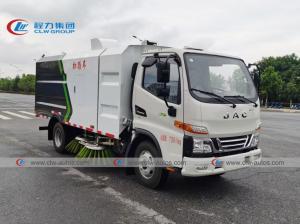 China Cummins Engine 5Ton Stainless JAC Vacuum Road Garbage Sweeper Truck wholesale