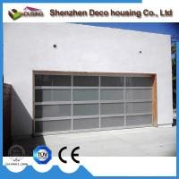China Residential best choice frosted tempered glass panel garage doors with opener on sale