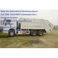 Buy cheap Auto HOWO 16 Cbm 10 Wheels Garbage Compactor Truck With Rear Cover / Italy Pto product