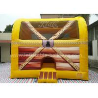 China Fireproof PVC Tarpaulin 6M Inflatable Treasure Box Bouncer With Columns Inside wholesale