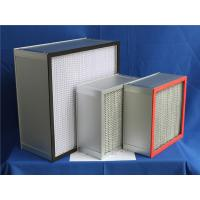 Quality H13 Fiberglass Paper Separator HEPA Furnace Filter For Clean Room 610 * 610 * 150 mm for sale
