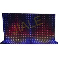 China 4x6m Rgb 3in1 Led Video Curtain Backdrop Decoration / Stage Fixture wholesale