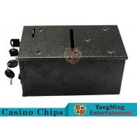 China Black Color Smart Casino Drop Box Suitable For Texas Holdem Gambling Games wholesale