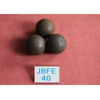 China Power Station Forged Grinding Steel Ball B2 D40mm High Surface Heardness 61hrc - 63hrc wholesale