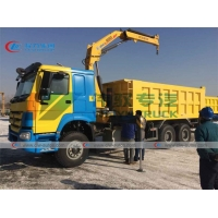 China Howo 30T Tipper Truck Mounted Knuckle Boom Crane wholesale