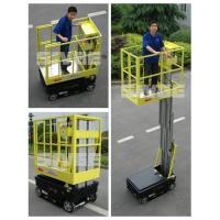 Quality Motor Driven 5m Height Aerial Work Platform Self Driven Dual Mast Lightweight for sale