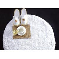 China Washable White Waffle Disposable Spa Slippers , Disposable Hotel Bathroom / Guest House Slippers wholesale