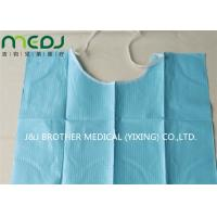 China Neck Notch Dental Patient Apron Medical Disposable Paper And PE Bib With Tie On wholesale
