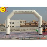 Buy cheap Customized Advertising White Inflatable Start Finish Arch For Racing Finish Line product