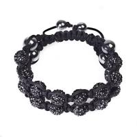 China 2012 hot selling black crystal beaded bracelets CJ-B-167 for anniversary, gift, party wholesale
