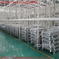 China Foldable Warehouse wire mesh container cage/security cage/pallet cage/metal bin/industrial storage cabinets/cage storage wholesale