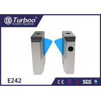 China Durable Retractable Flap Barrier Turnstile Biometric Access Control System wholesale