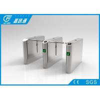 China Metros/ Bus Stations Drop Arm Turnstile Channels Width 550 - 660mm Relay Signal Input wholesale