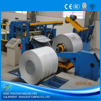 China Galvanised Steel Sheet Slitter Cutter Machine With Circular Knife Blade PLC Control wholesale