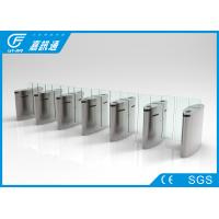China Waist Height Retractable Flap Barrier , Public Security Flap Barrier System wholesale