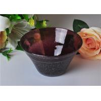 China OEM 472ml Capacity Bubble Glass Bowl For Scented Candle , Mouth Blown wholesale