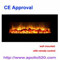 China Black Wall-mounted Electric Fireplace with Heater wholesale