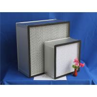 China H13 Fiberglass Paper Separator HEPA Furnace Filter For Clean Room 610 * 610 * 150 mm wholesale