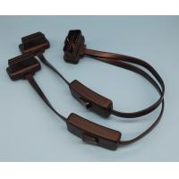 Right Angle Flat OBD2 Y Cable Male 24V To Dual With 2 Switches