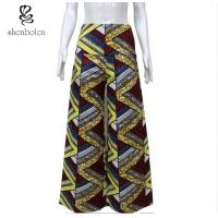 China Colorful African Print Wide Leg Pants Floor Length Anti Wrinkle Plus Size wholesale