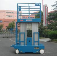 China Self - Propelled Aluminum Work Platform 8m Platform Height Dual Mast wholesale