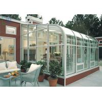 China Residential Housing Aluminium Glass Greenhouse Double Glazing Architeched Design wholesale